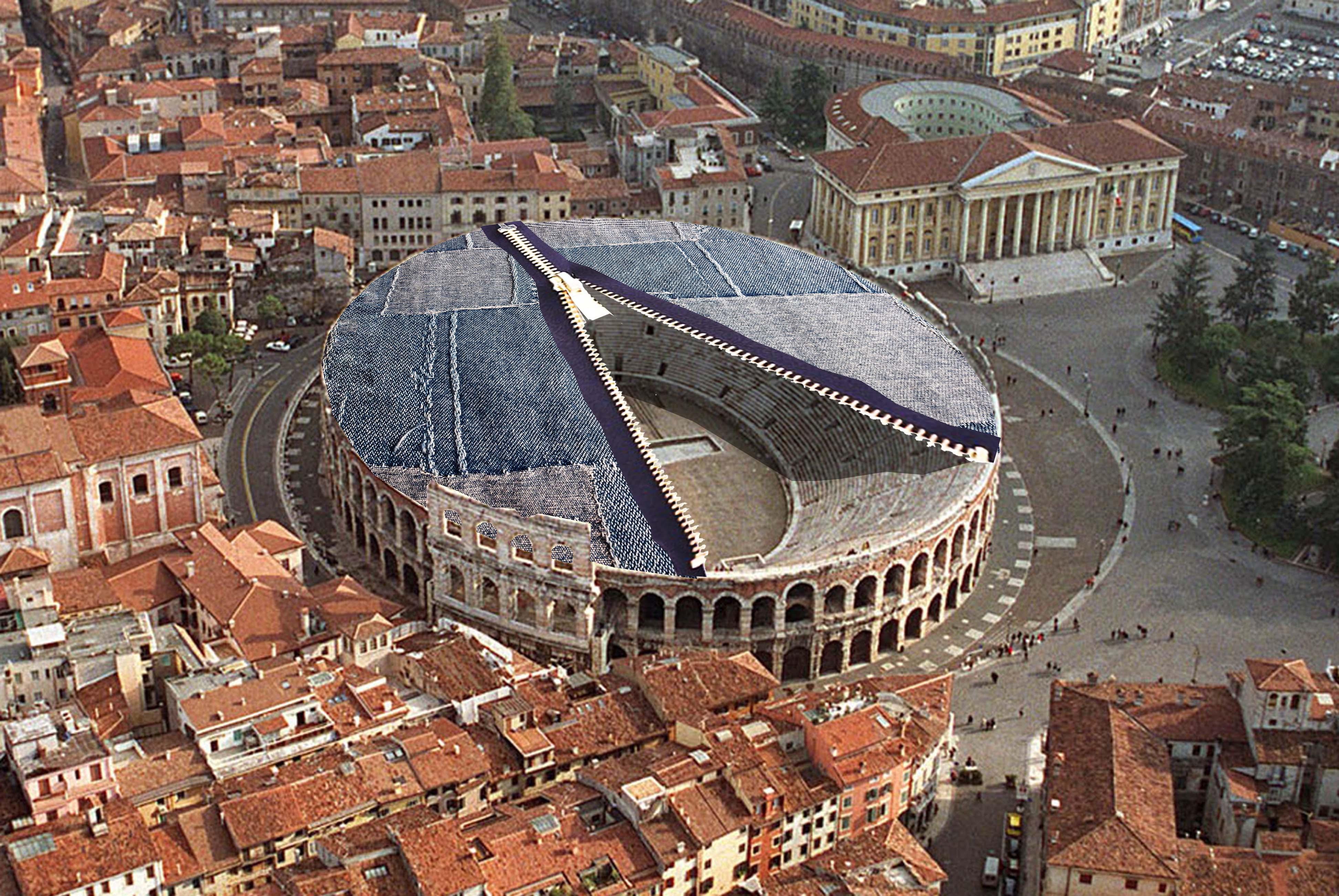 nuova copertura dell anfiteatro romano arena di verona